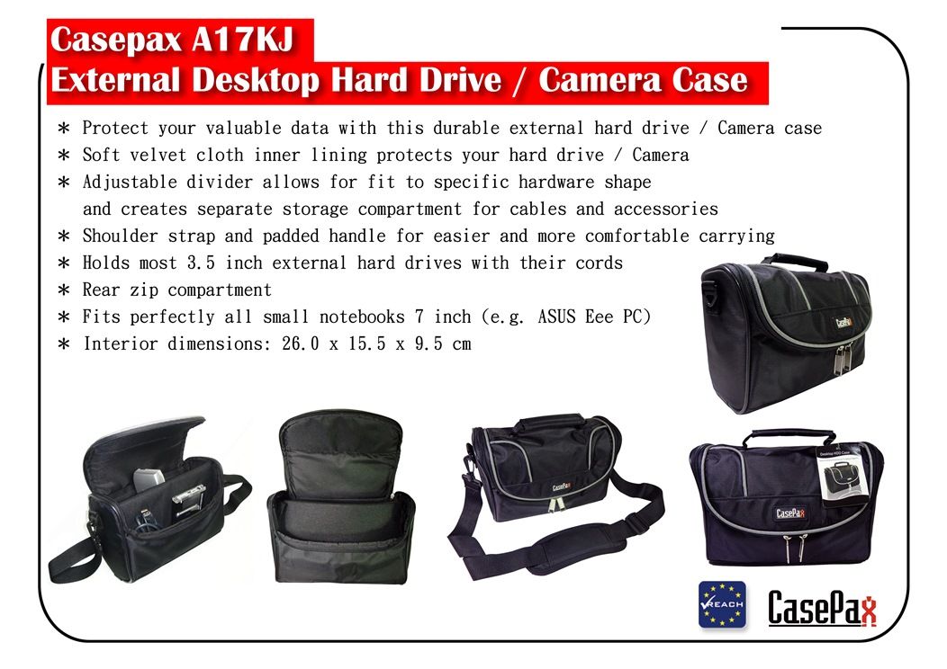 A17KJ External Desktop Hard Drive / Camera Case